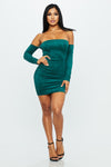 Trouble Mini Dress - HoneyBum