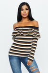 Scarlett Striped Sweater - HoneyBum