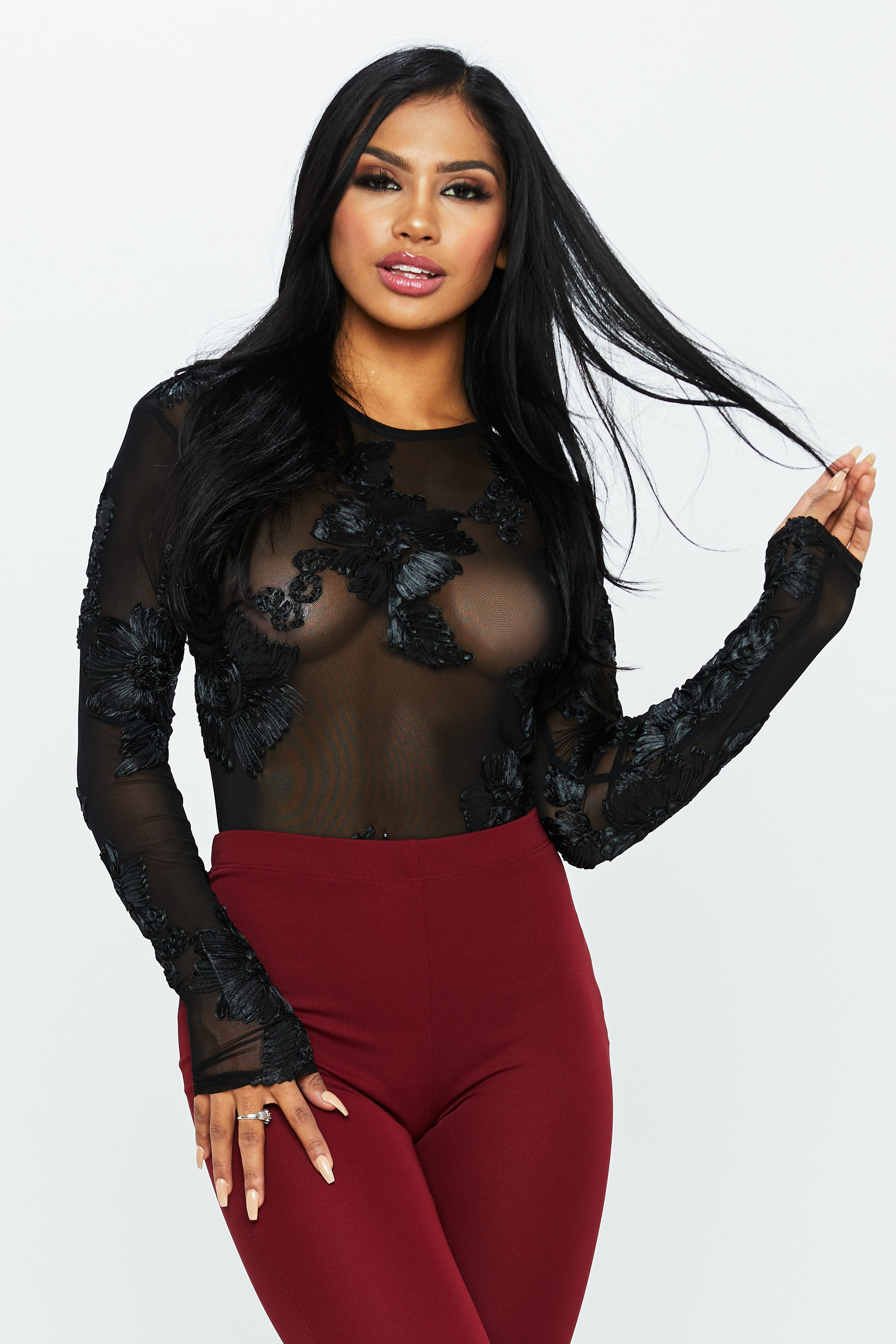 Petal Pusher Mesh Bodysuit - HoneyBum