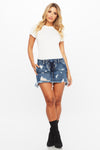 Heat Wave Denim Skirt - HoneyBum