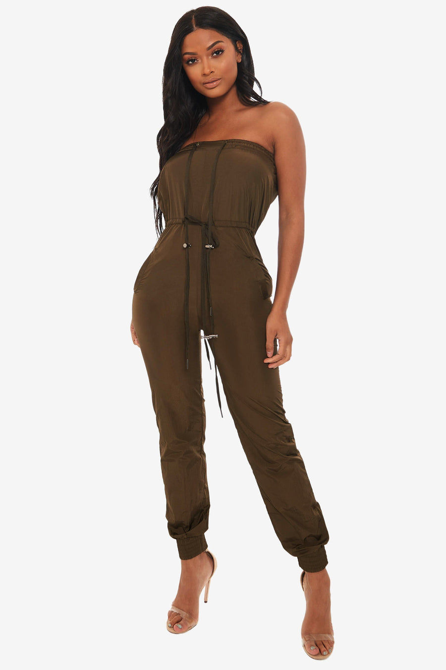 Tell Me Everything Strapless Jumpsuit