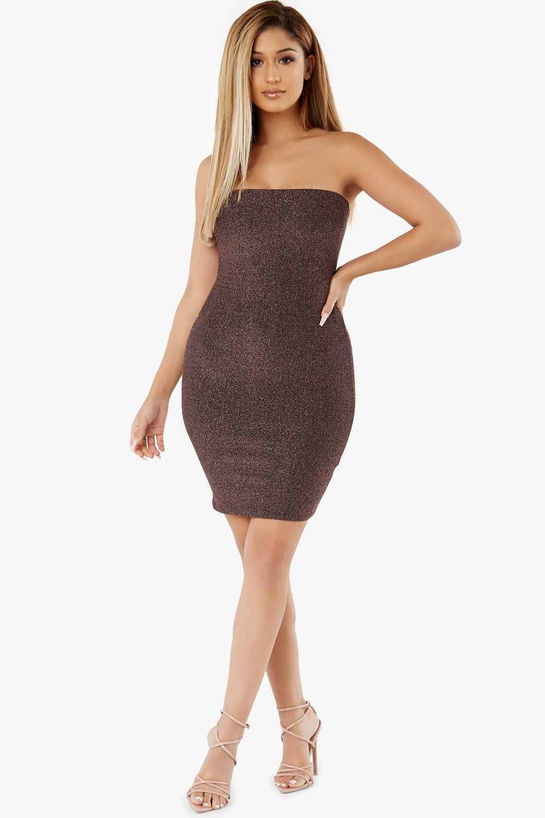 Solo Shimmer Tube Mini Dress
