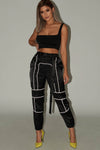 All Eyes On Me Satin Reflective Pant