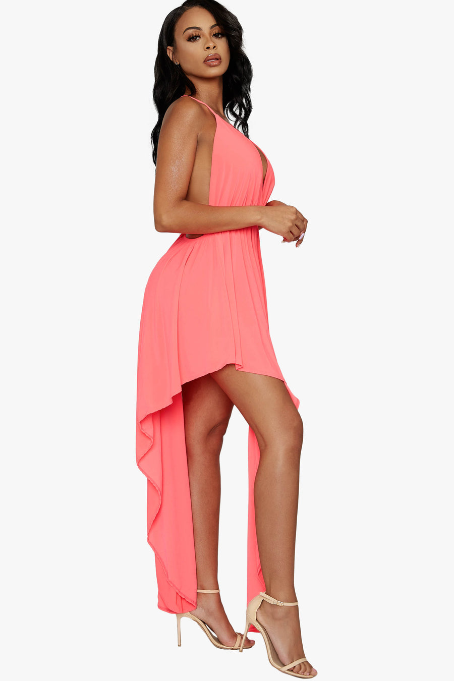 Halt On The Dance Floor Halter Dress