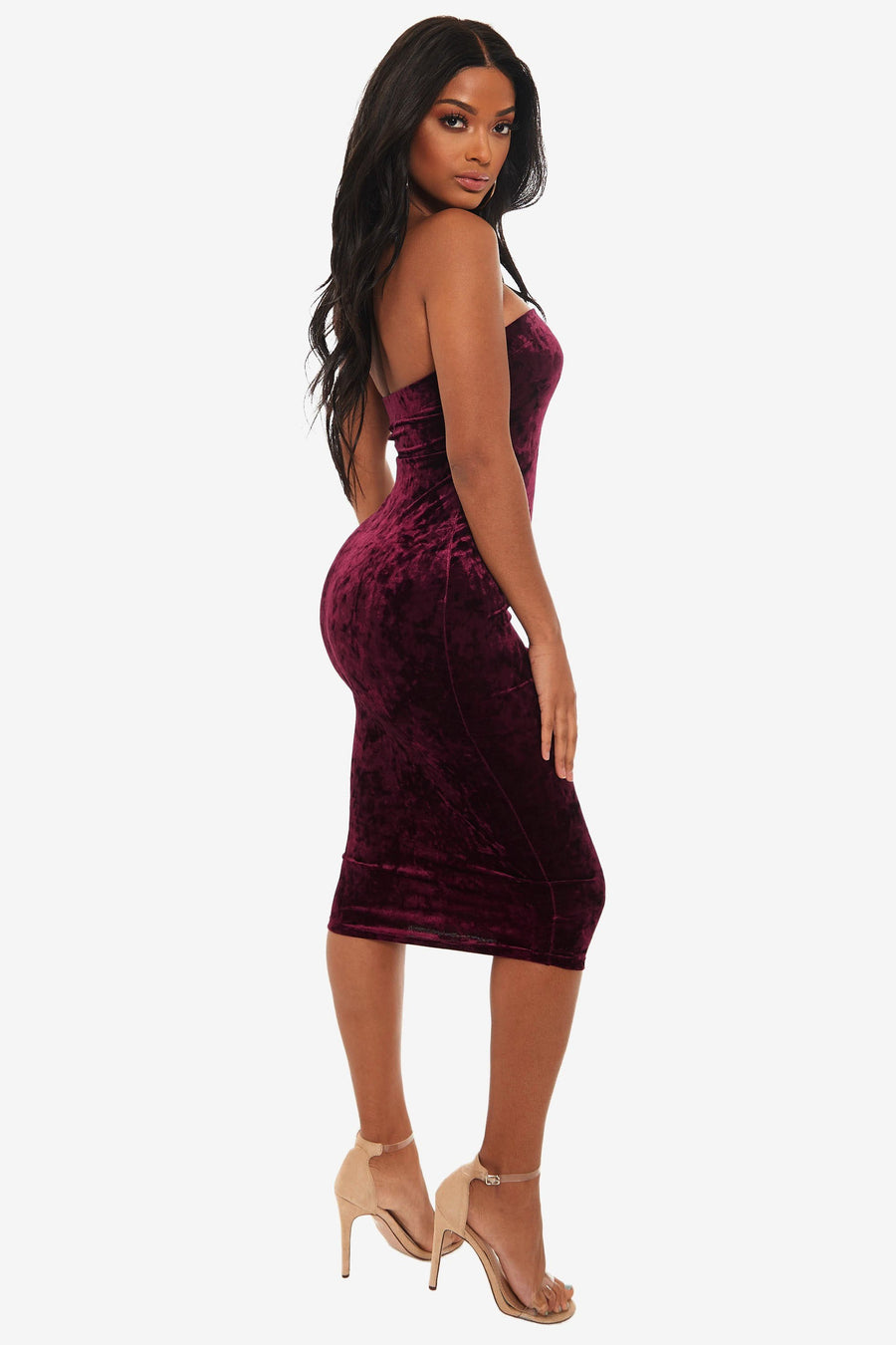 Feel The Beat Velvet Dress