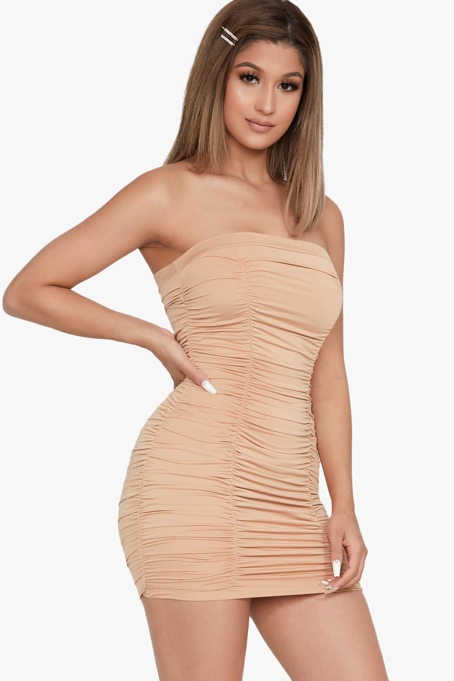 Waste Your Time Strapless Dress
