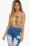 Snake Trouble Tube Top