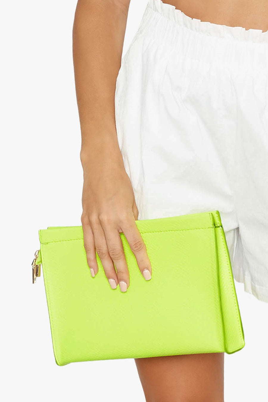 Textured Patent Clutch Bag