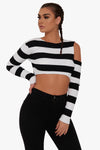 Jenner Striped Crop Top