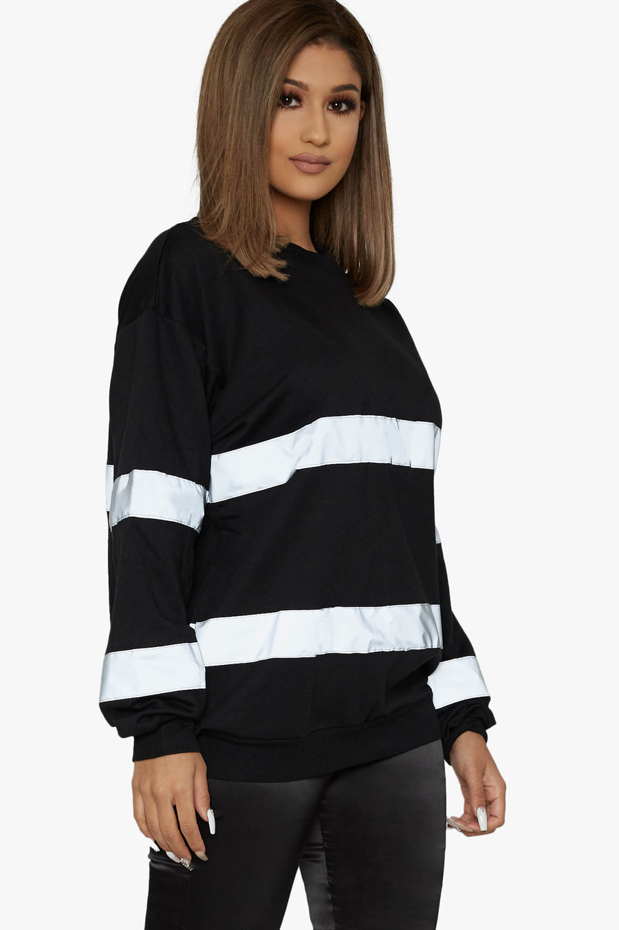 Not Your Valet Reflective Oversized Sweatshirt