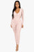 Senorita Ruched Mesh Jumpsuit - Blush