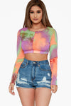 Groovy Baby Mesh Crop Top