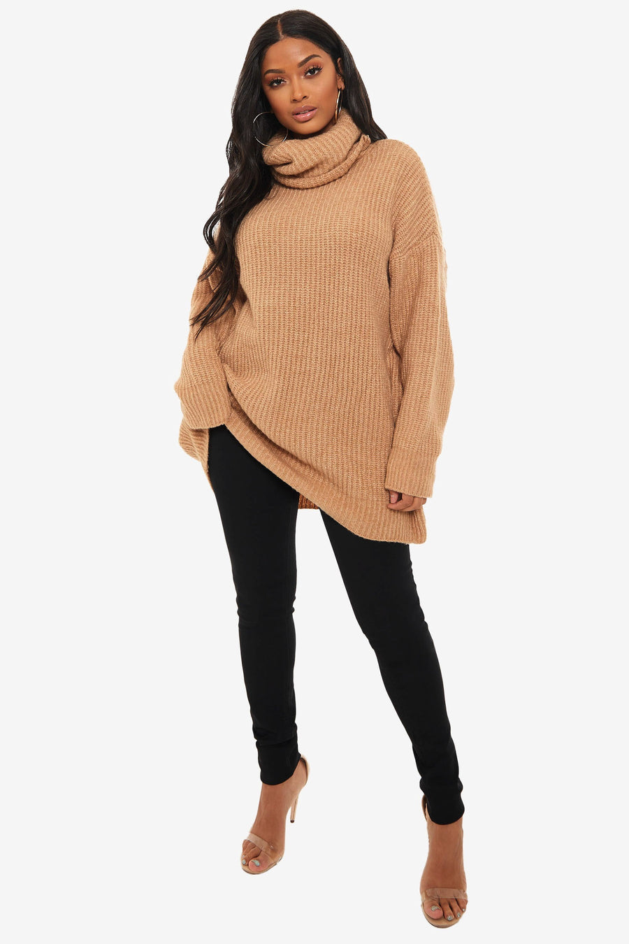 High Standards Oversized Turtleneck Sweater