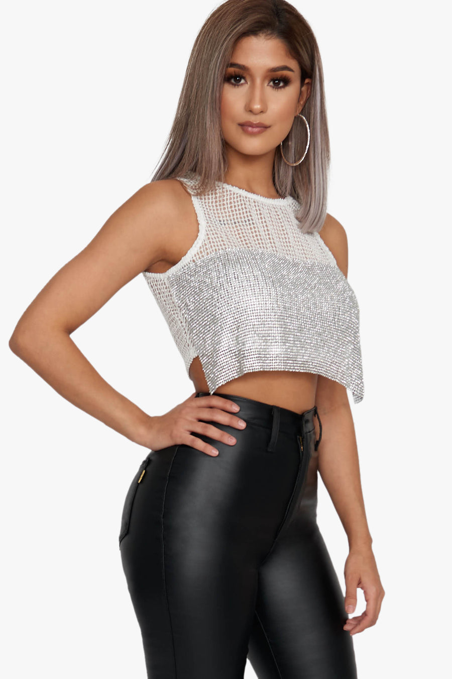 Lovestoned Chainmail Crop Top