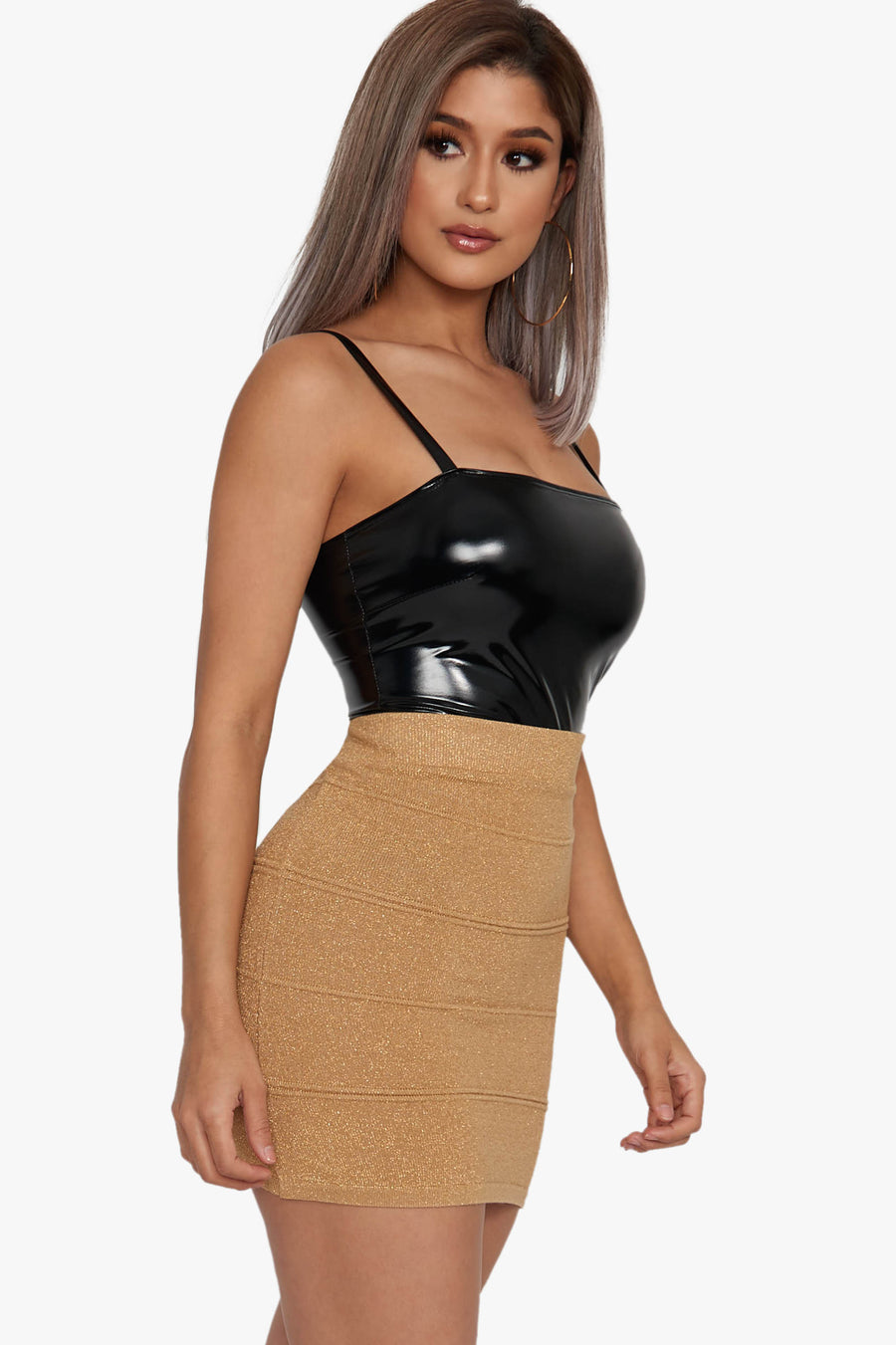 Dusted In Gold Bandeau Skirt