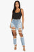 Alexa Distressed High Rise Jeans