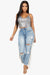 Statement Distressed Girlfriend Jeans