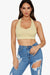 Oh Boy Halter Crop Top