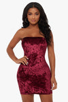 Center of Attention Velvet Dress
