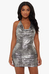 Heavy Metal Halter Dress