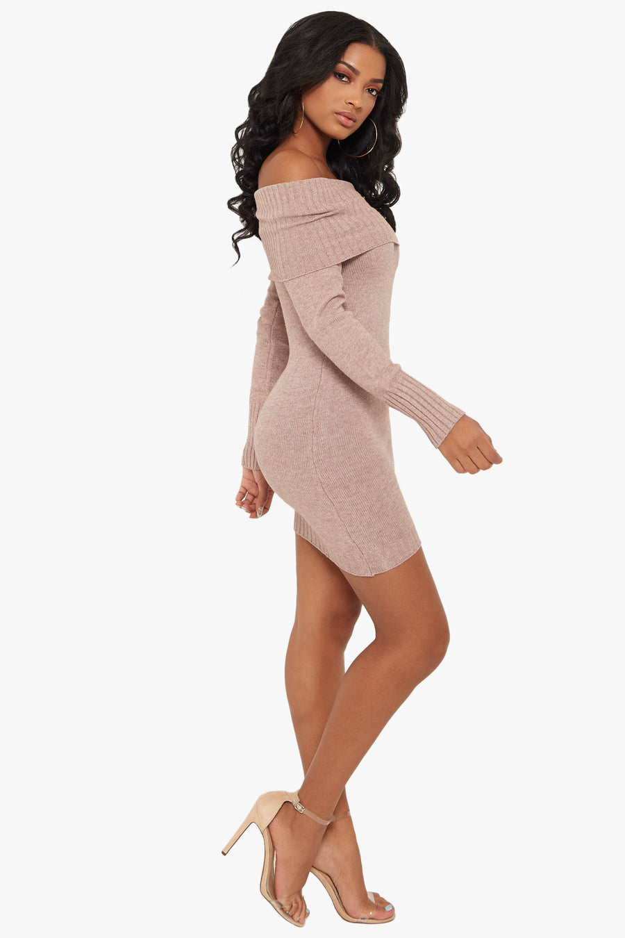 Relentless Off The Shoulder Sweater Dress