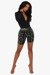Wild Thang Cheetah Biker Shorts