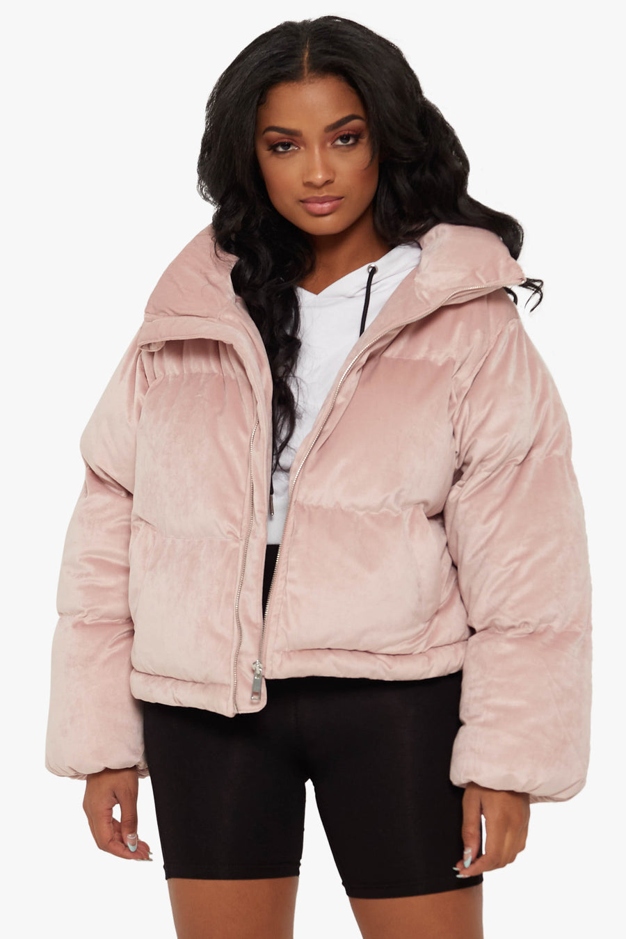 Bundle Up Suede Puffer Jacket