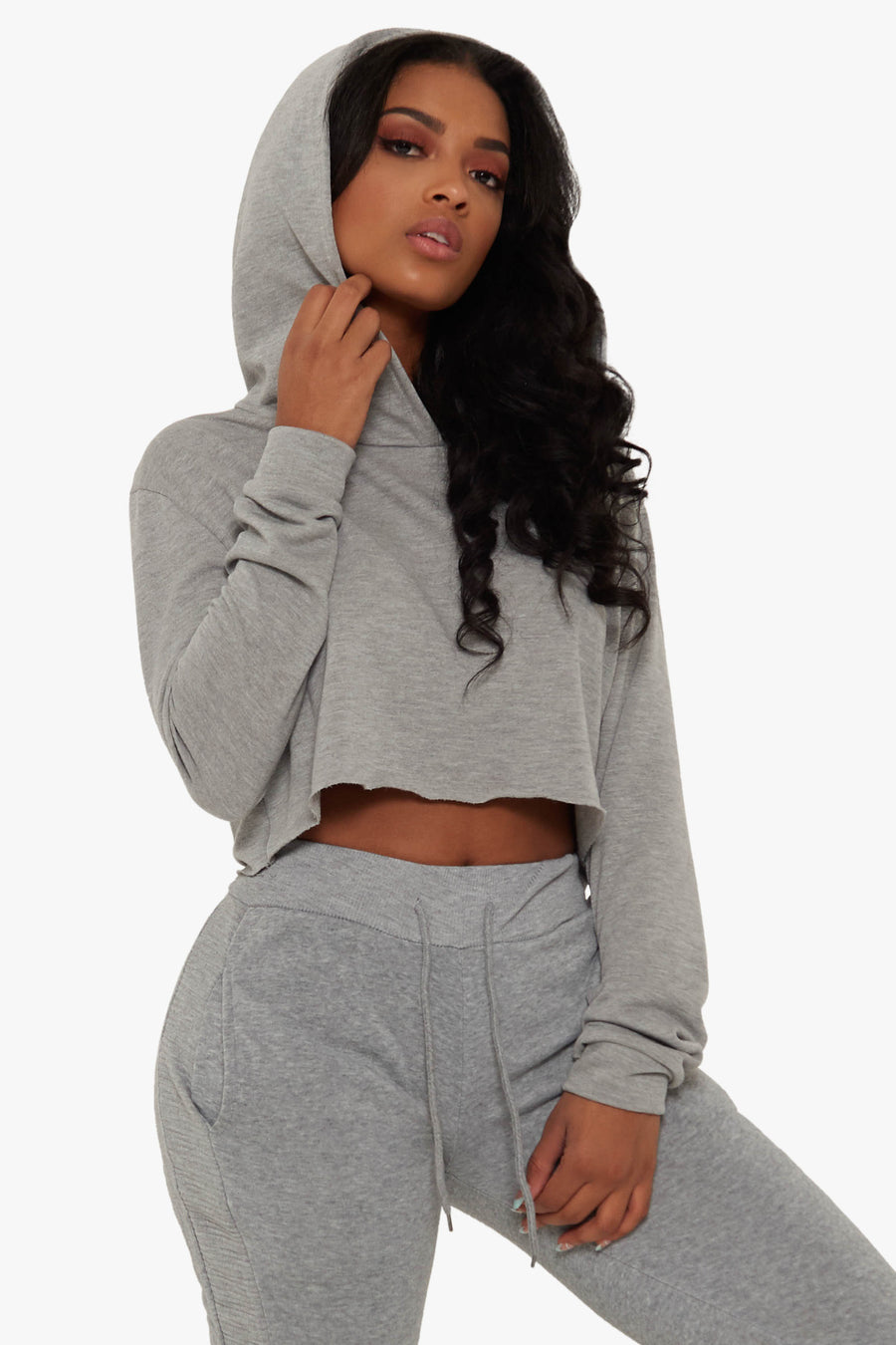 Set It Up Crop Hoodie
