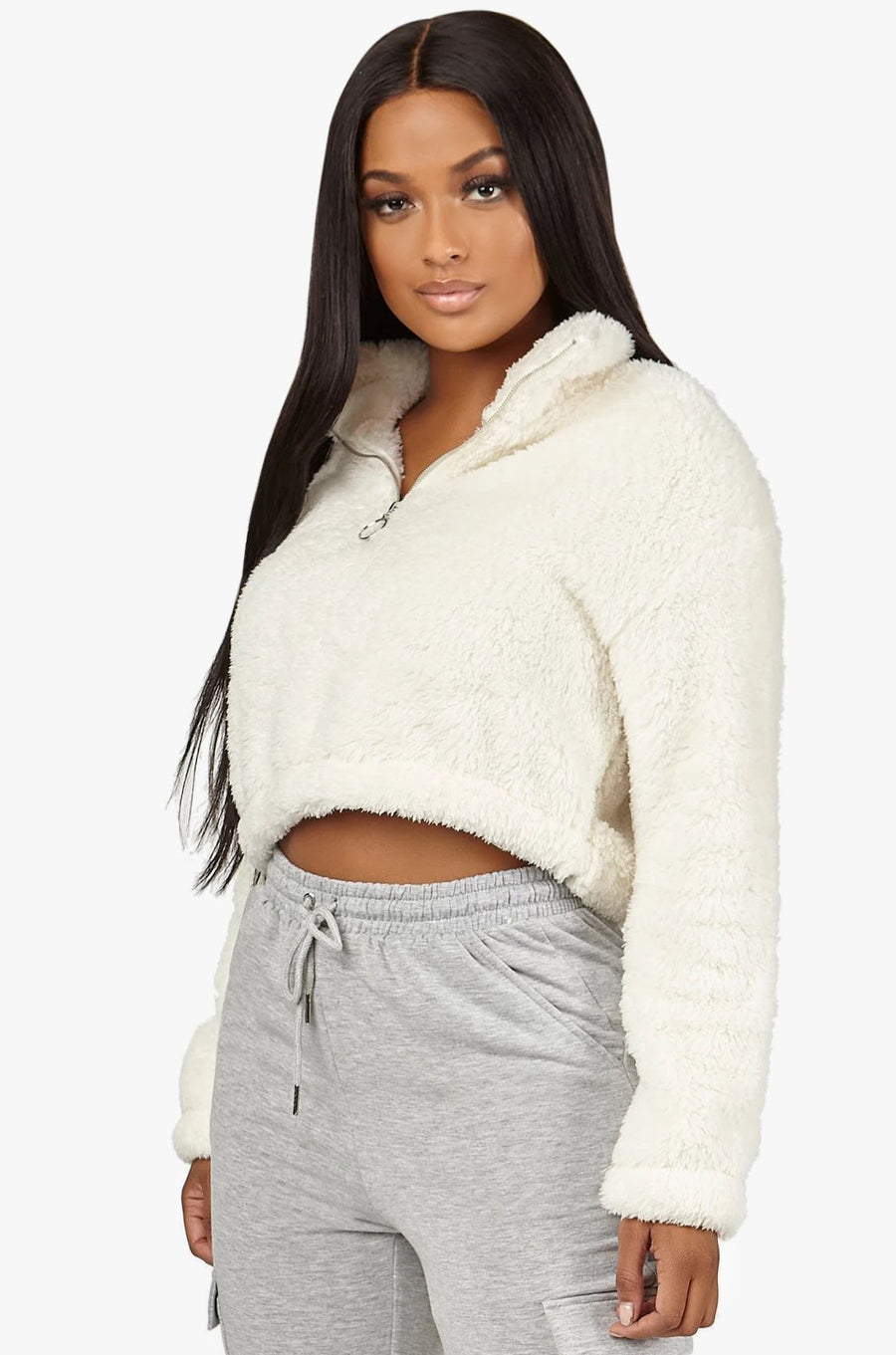 Not Fuzzy Cropped Pullover