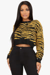Call Me An Animal Cropped Sweater