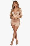 Haute Figure Satin Mini Dress