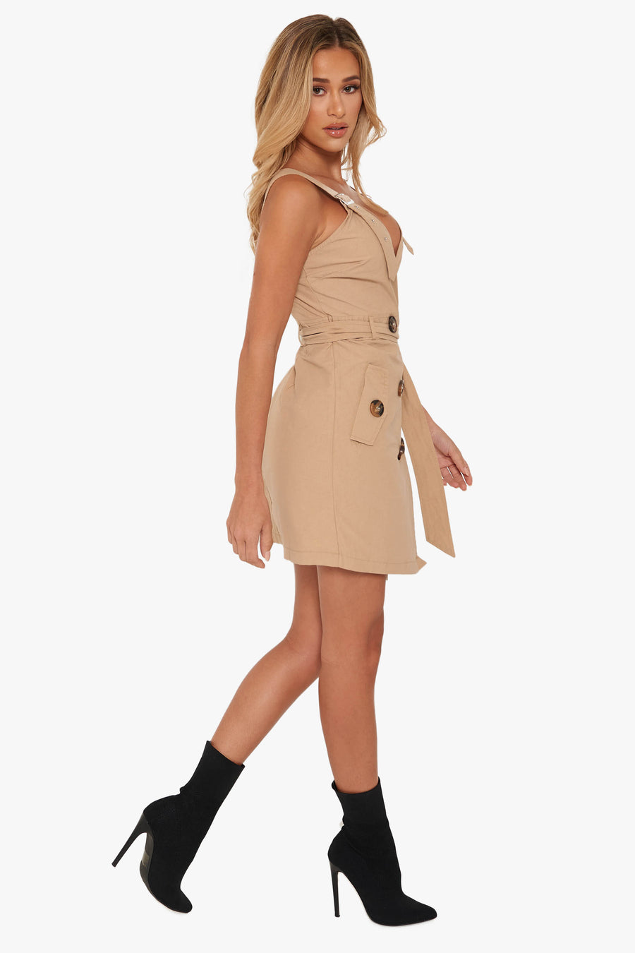 Chasing Sunsets Khaki Dress
