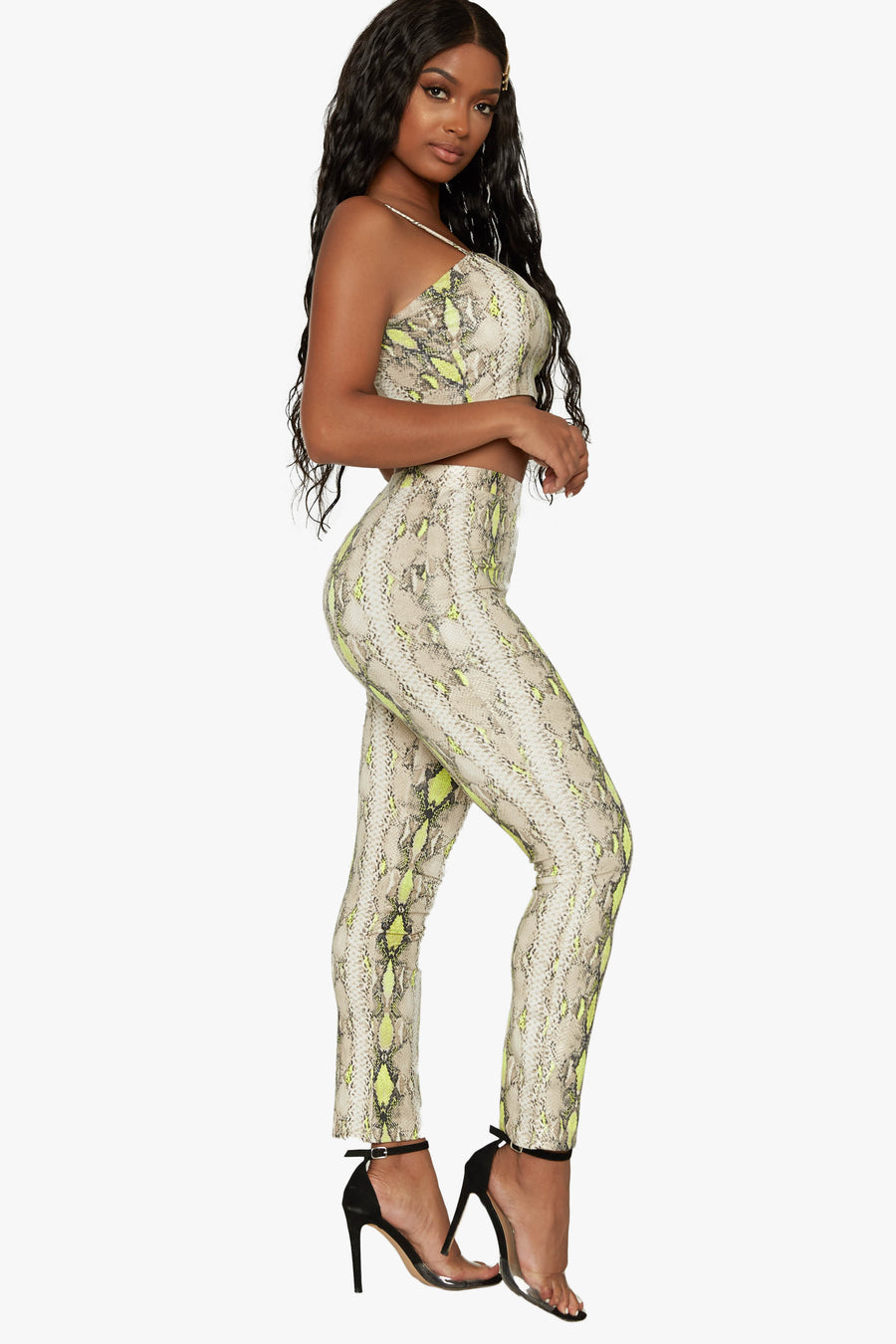 It's Goin Down Snake Print Set