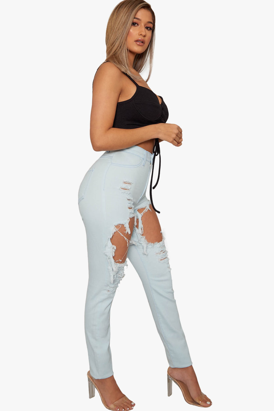 Return Distressed Jeans