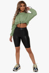 Breakdown Leather Biker Shorts