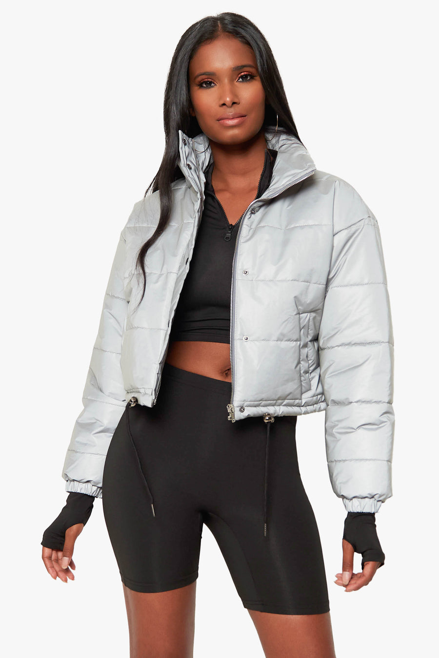 Electric Reflective Puffer Jacket