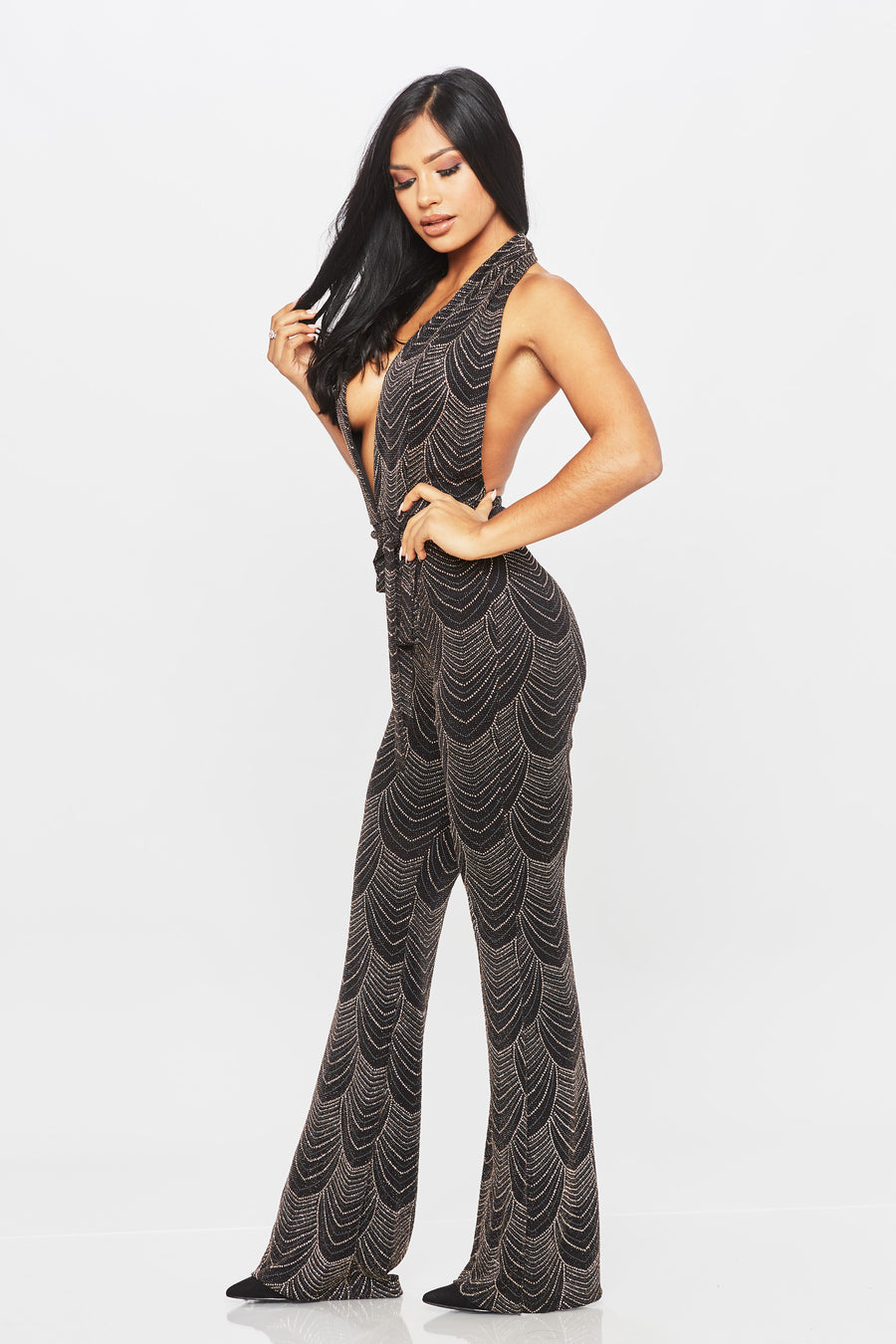 Queen For A Day Jumpsuit - HoneyBum