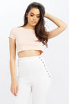 Crepe Crop Top - HoneyBum