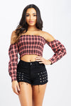 Keep Me Plaid Top
