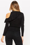 Midnight Ruffle Top - HoneyBum