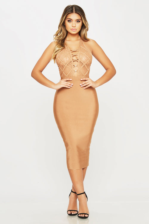 For You Midi Dress - HoneyBum