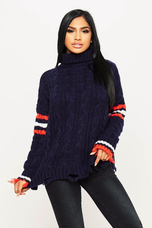 Tommy Striped Sweater - HoneyBum