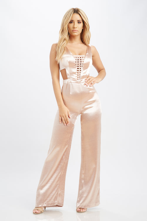 On The Line Jumpsuit - HoneyBum