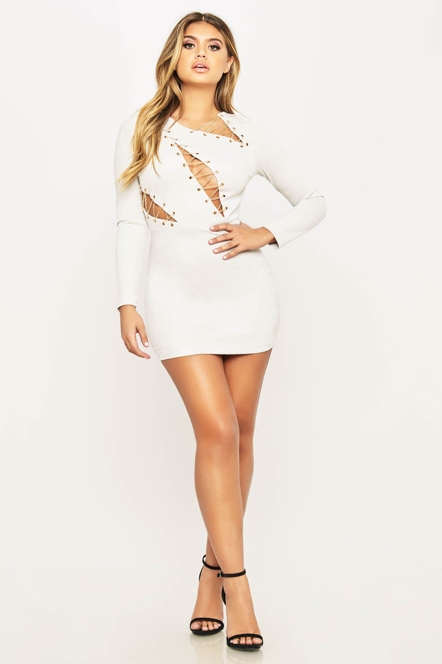 Chained Down Mini Dress - HoneyBum