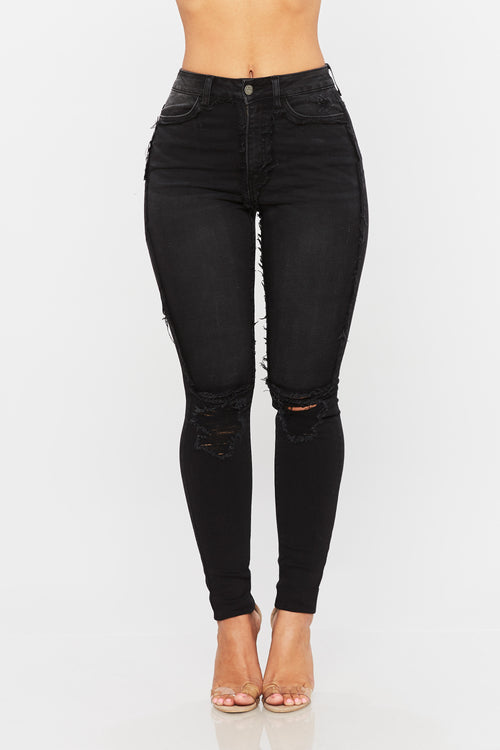 Serafina High Waisted Jeans - HoneyBum