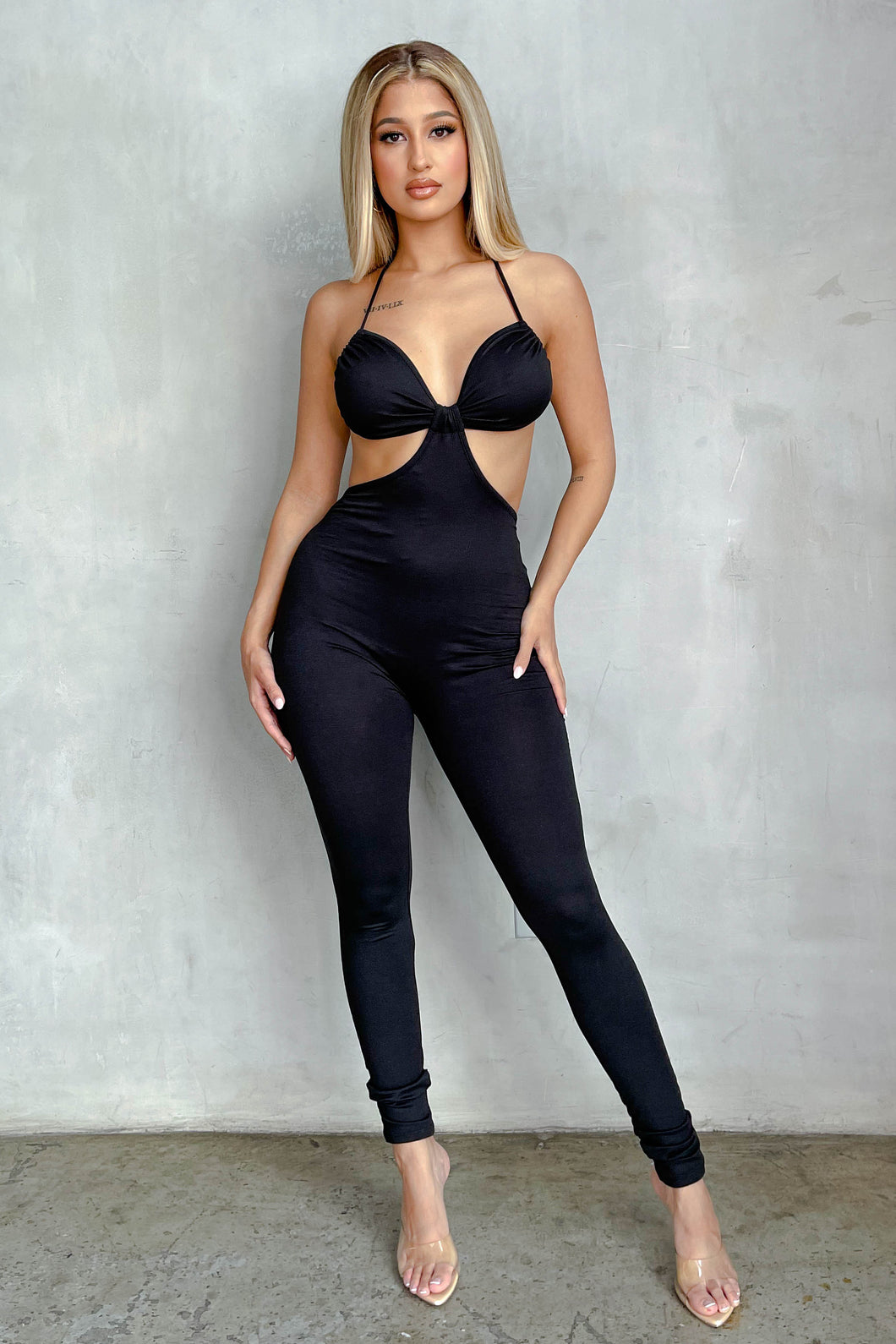 Drawn To Sunset Cut Out Jumpsuit