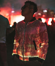 Prophecy bomber Enhanced on a male at a festival outside