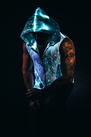Revival Hoodie Fiber Optic Sleeveless Mens Festival Clothing Light Up Hoodie