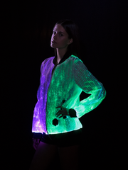 Prophecy Bomber Womens Festival Clothing Light Up Jacket Multi Color