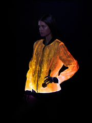 Prophecy Bomber Womens Festival Clothing Light Up Jacket Yellow